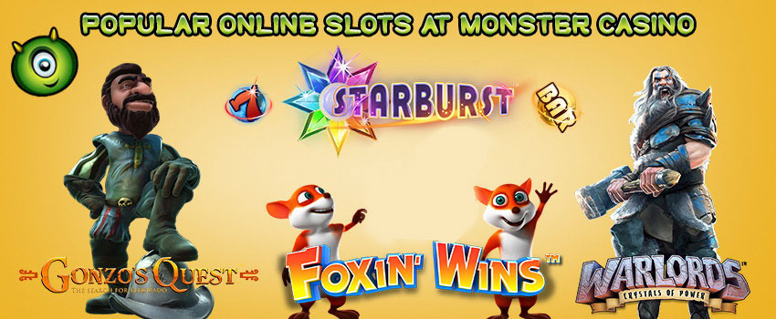 Win Big on the Popular Online Slots at Monster Casino
