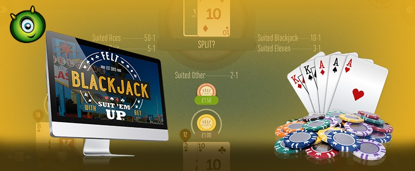 How to Play Blackjack Suit'em Up Online?