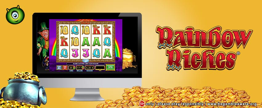 Rainbow Riches Free Spins Slots Launches at Monster Casino