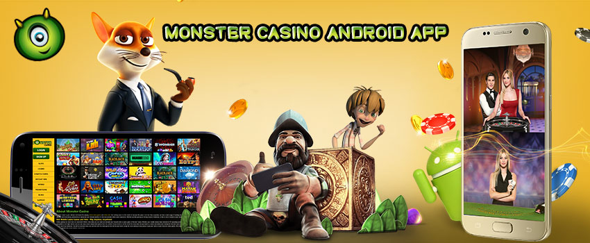 Monster Casino's Android app is now available in Google Play Store