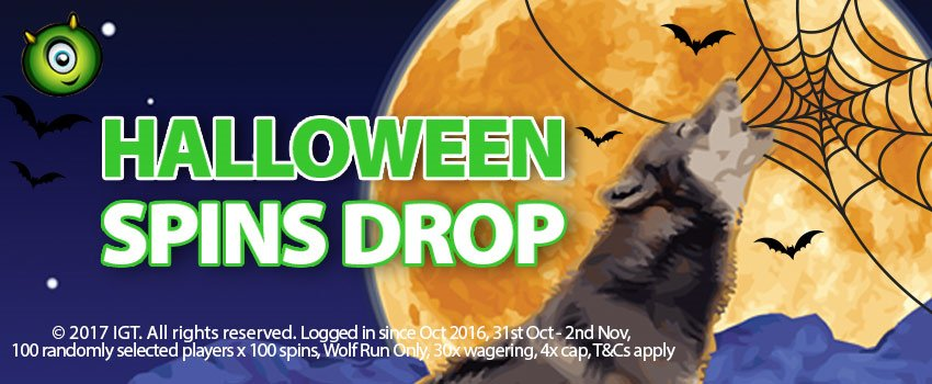 Halloween 2017: Take advantage of Halloween Spins Drop at Monster Casino!