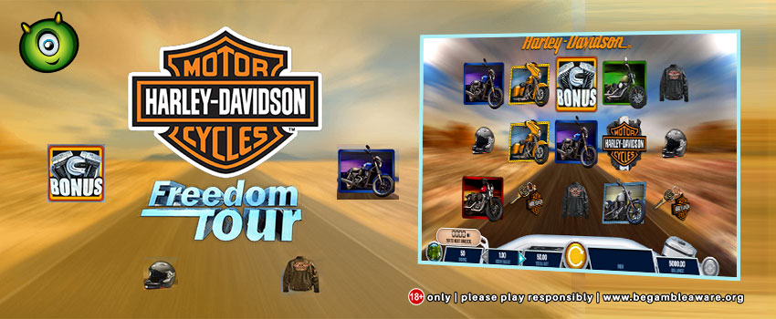 Play IGT's Harley Davidson Freedom Tour at Monster Casino