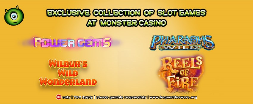 Core Gaming Presents their Exclusive Collection of Slot Games at Monster Casino