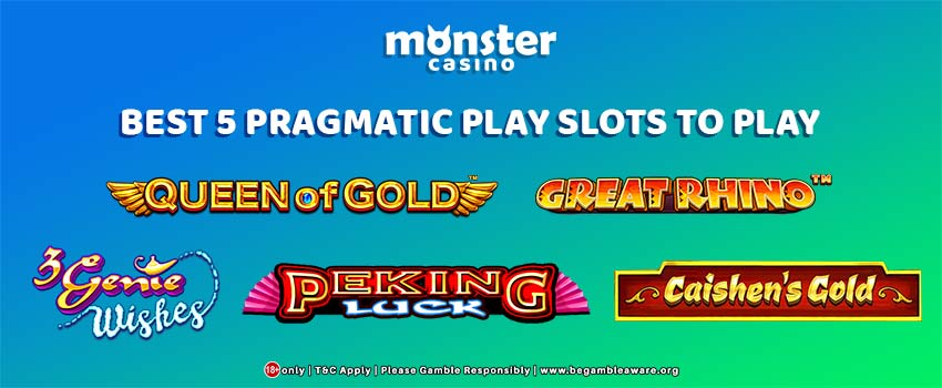 Best 5 Pragmatic Play Slots To Play At Monster Casino