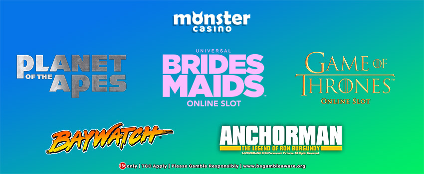Slots Inspired By Top Films And TV Shows